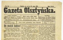 """Gazeta Olsztyńska"""" z 1915 r. – unikatowy egzemplarz z lat Wielkiej Wojny."""