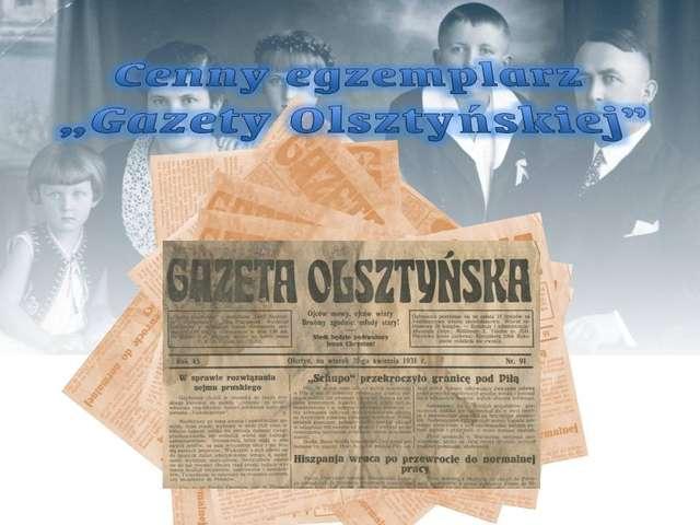 Niedziela w Muzeum - Cenny egzemplarz Gazety Olsztyńskiej - full image