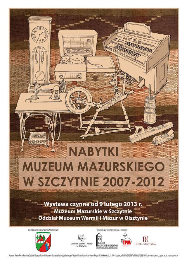 NABYTKI MUZEUM MAZURSKIEGO  W SZCZYTNIE 2007-2012 - full image