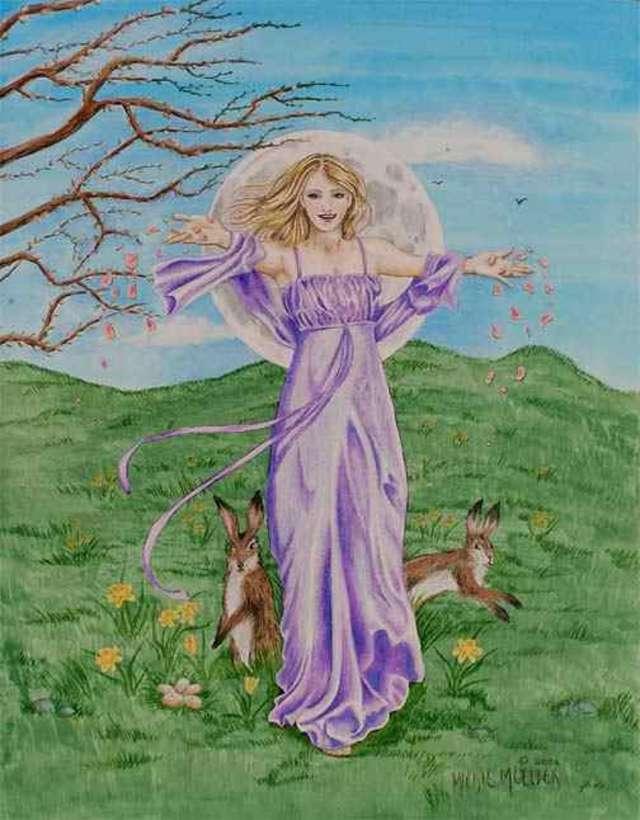 Ostara- bogini wiosny odwiedza rezydencję biskupią  - full image