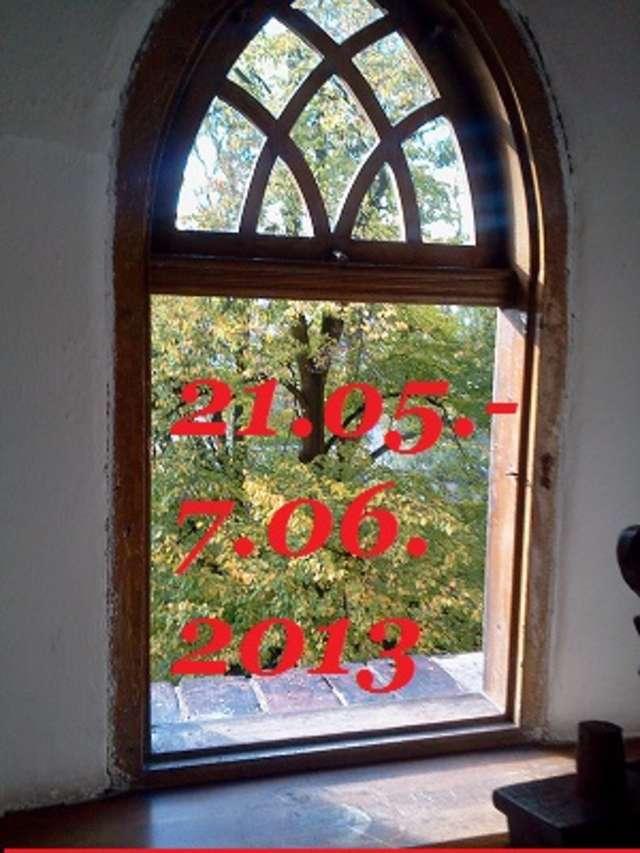 """""""Widziane przez okno lidzbarskiego zamku"""" - full image"""