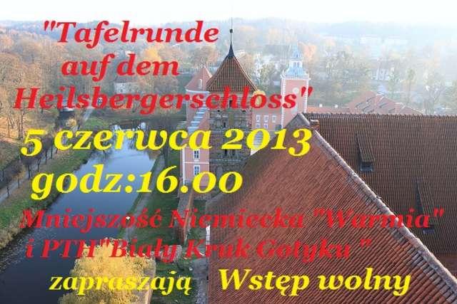 Tafelrunde auf dem Heilsbergerschloss - full image