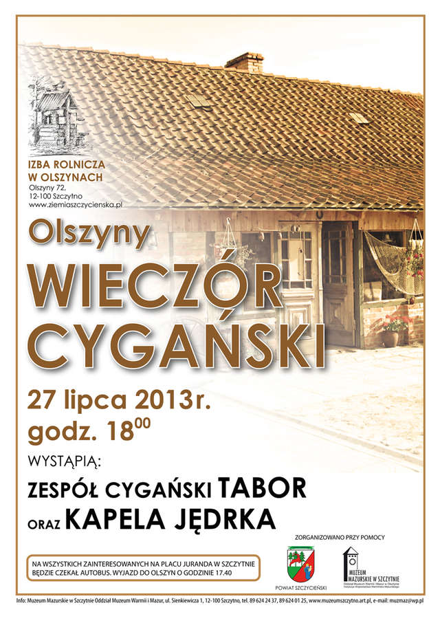 Wieczór Cygański w Izbie Muzealnej w Olszynach - full image