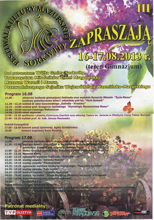 III Festiwal Kultury Mazurskiej - full image
