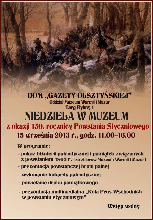 Niedziela w Muzeum z okazji 150. rocznicy Powstania Styczniowego - full image