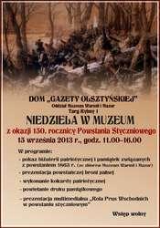 Niedziela w Muzeum z okazji 150. rocznicy Powstania Styczniowego