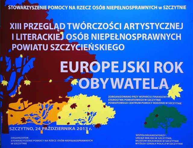 XII przegląd twórczości plastycznej osób niepełnosprawnych powiatu szczycieńskiego - full image
