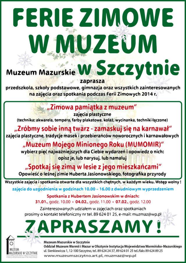 FERIE ZIMOWE W MUZEUM  W SZCZYTNIE - full image