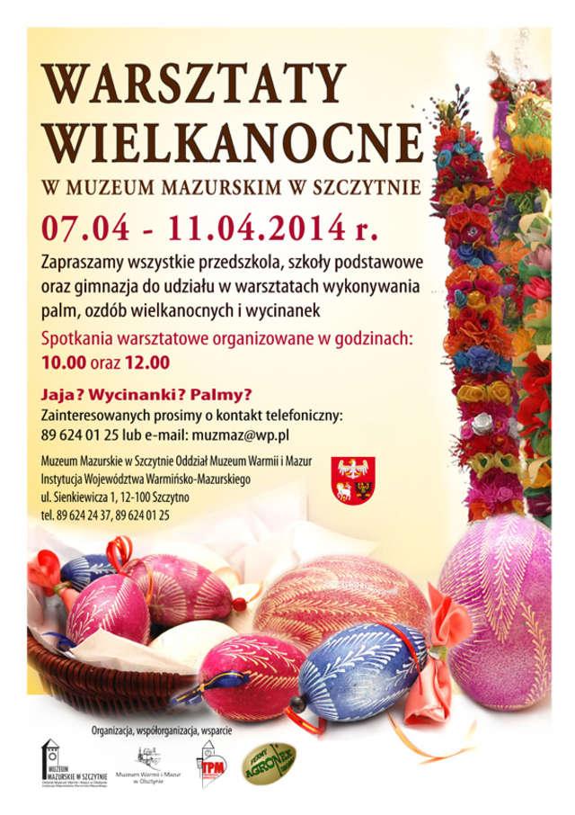 Warsztaty wielkanocne w Muzeum Mazurskim w Szczytnie - full image