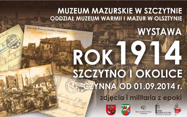 Rok 1914. Szczytno i okolice - full image