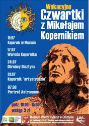 Wakacyjne Czwartki z Mikołajem Kopernikiem - Wystawa Kopernik