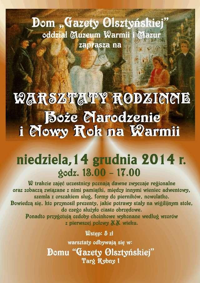 Warsztaty rodzinne Boże Narodzenie i Nowy Rok na Warmii - full image