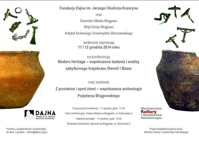 Konferencja i wystawa Modern Heritage - współczesne metody badań i studiów nad zabytkowym krajobrazem - full image