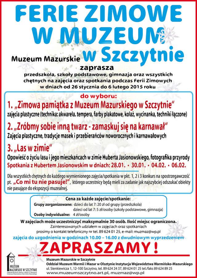 Ferie zimowe w Muzeum Mazurskim w Szczytnie - full image