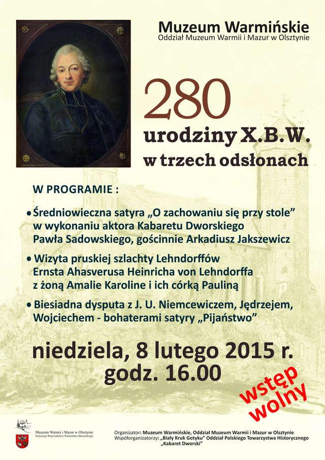 280 urodziny X.B.W. w trzech odsłonach - full image