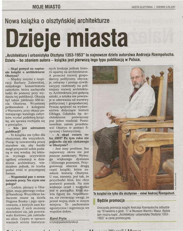 """""""Gazeta Olsztyńska"""" opublikowała wywiad z Andrzejem Rzempołuchem - full image"""