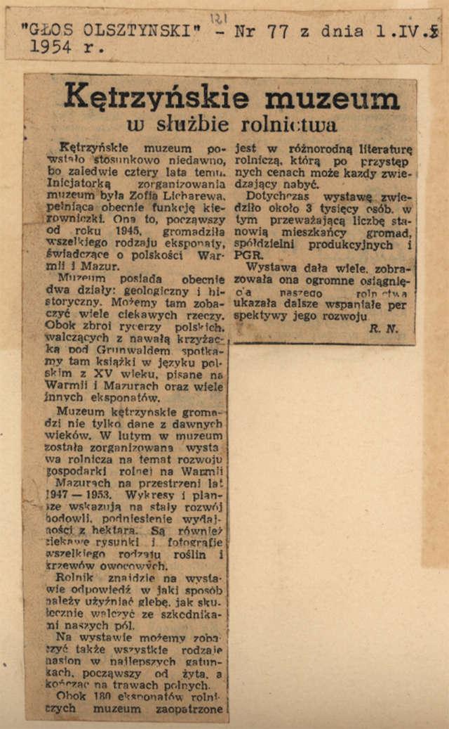"""""""Głos Olsztyński"""" opisał wystawę rolniczą. - full image"""