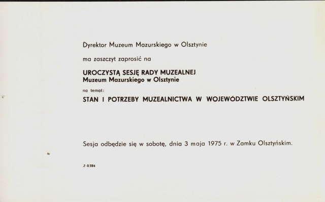 Na uroczystej sesji w olsztyńskim zamku obradowała Rada Muzealna Muzeum Mazurskiego w Olsztynie. - full image