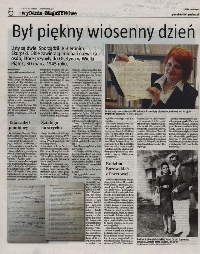 """Gazeta Olsztyńska"" - 13.04.2012 r.  - full image"