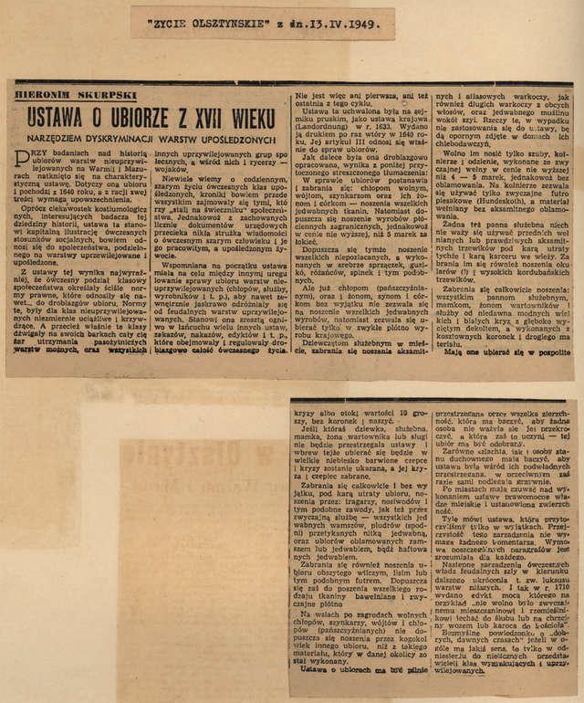Życie Olsztyńskie - 13.04.1949 - full image