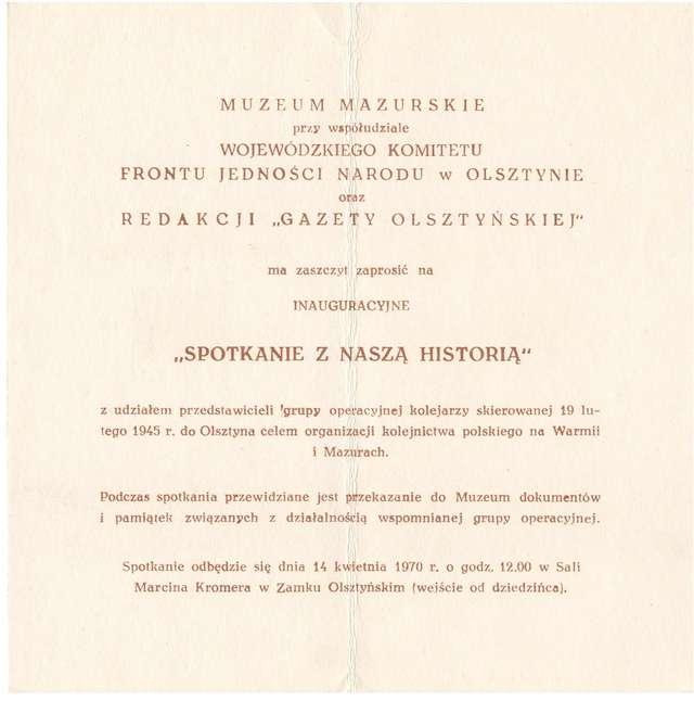 14.04.1970 - Spotkanie z naszą historią