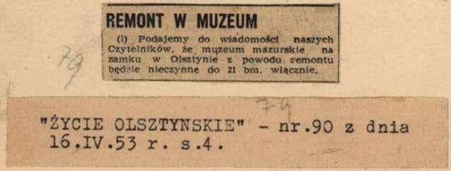 """""""Życie Olsztyńskie"""" - 16.04.1953 r. - full image"""