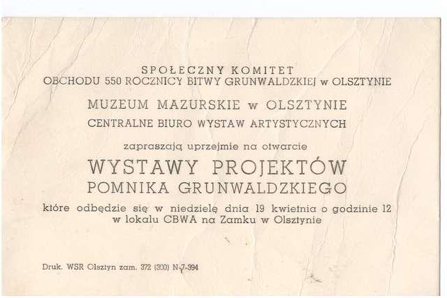 Otwarcie Wystawy Projektów Pomnika Grunwaldzkiego - full image