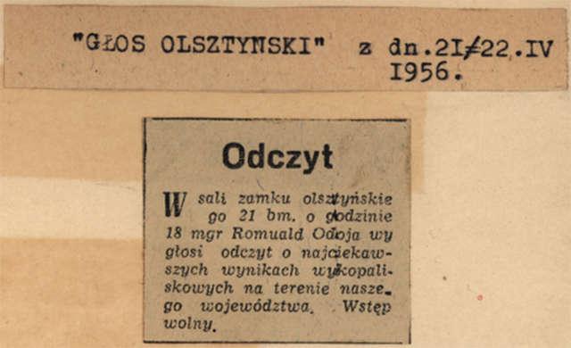 Na zamku w Olsztynie archeolog Romuald Odoj wygłosił odczyt o najciekawszych wynikach wykopaliskowych na terenie naszego województwa.   - full image