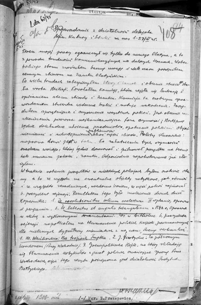 Hieronim Skurpski złożył pierwsze, dwustronicowe sprawozdanie z działalności - full image