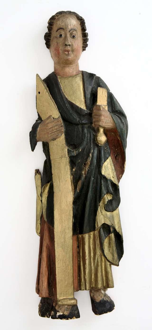 """""""Gazeta Olsztyńska"""" opublikowała informacje o nowo nabytej przez Muzeum Warmii i Mazur gotyckiej rzeźbie św. Macieja - full image"""