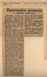 """""""Głos Olsztyński"""" opisał wystawę rolniczą."""