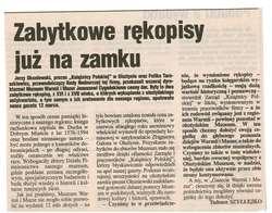"""Prezes """"Książnicy Polskiej"""" Jerzy Okuniewski i przewodniczący Rady Nadzorczej KP Feliks Taraszkiewicz przekazali do zbiorów Muzeum Warmii i Mazur dwa rękopisy."""