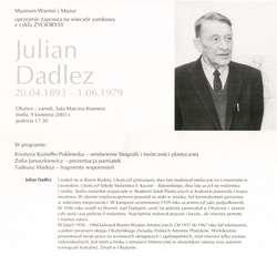 Julian Dadlez (20.04.1893 - 1.06.1979) - artysta malarz Wieczór zamkowy w 110. rocznicę urodzin.