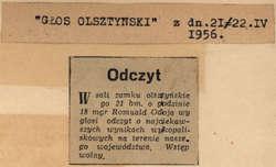 Na zamku w Olsztynie archeolog Romuald Odoj wygłosił odczyt o najciekawszych wynikach wykopaliskowych na terenie naszego województwa.