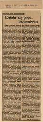 """W piśmie """"Świat i My"""" pracownik Muzeum Mazurskiego etnograf Franciszek A. Klonowski zamieścił artykuł Ostała się jeno… leśniczówka"""