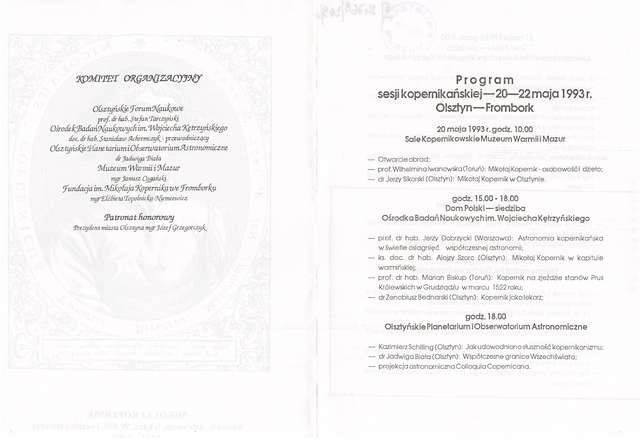 Muzeum Warmii i Mazur było współorganizatorem trzydniowej sesji naukowej Mikołaj Kopernik – kanonik, astronom, lekarz. - full image