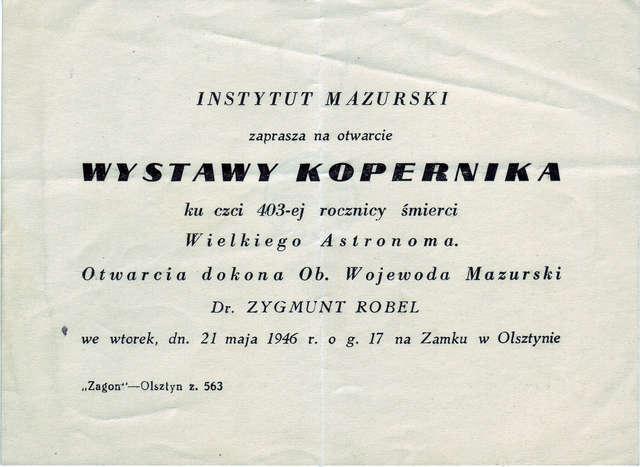 Na zamku w  Olsztynie otwarto Wystawę Kopernika ku czci 403-ej rocznicy śmierci Wielkiego Astronoma. - full image