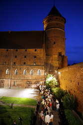Noc Muzeów na zamku w Olsztynie.