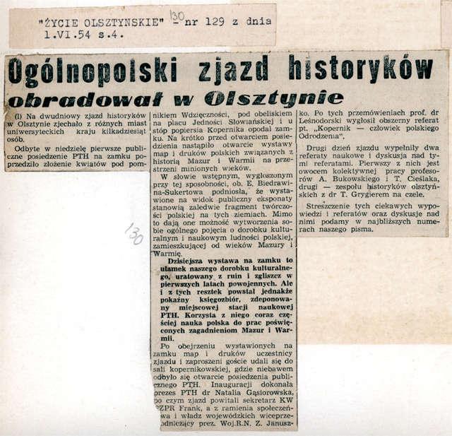 Prasa podsumowała Ogólnopolski Zjazd Historyków - full image