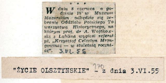 Na olsztyńskim zamku odbyło się zebranie oddziału Polskiego Towarzystwa Historycznego (PTH) - full image