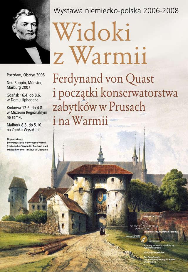 Wystawa pt.: Widoki z Warmii. Pokaz w Muzeum Regionalnym na zamku w Krokowej na Kaszubach - full image