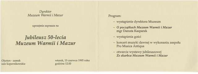 Muzeum Warmii i Mazur świętowało jubileusz 50-lecia.  - full image