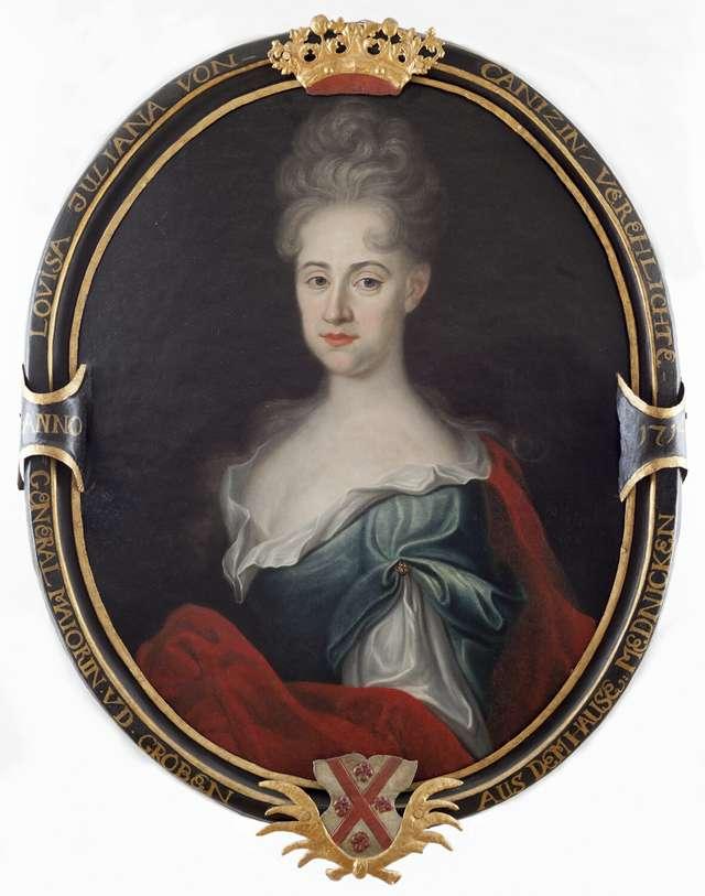 Epitafijny portret Gottlieby von Kanitz zamężnej von der Groeben. - full image