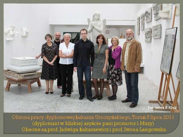 Obrona pracy dyplomowej Ł. Uroczyńskiego - full image