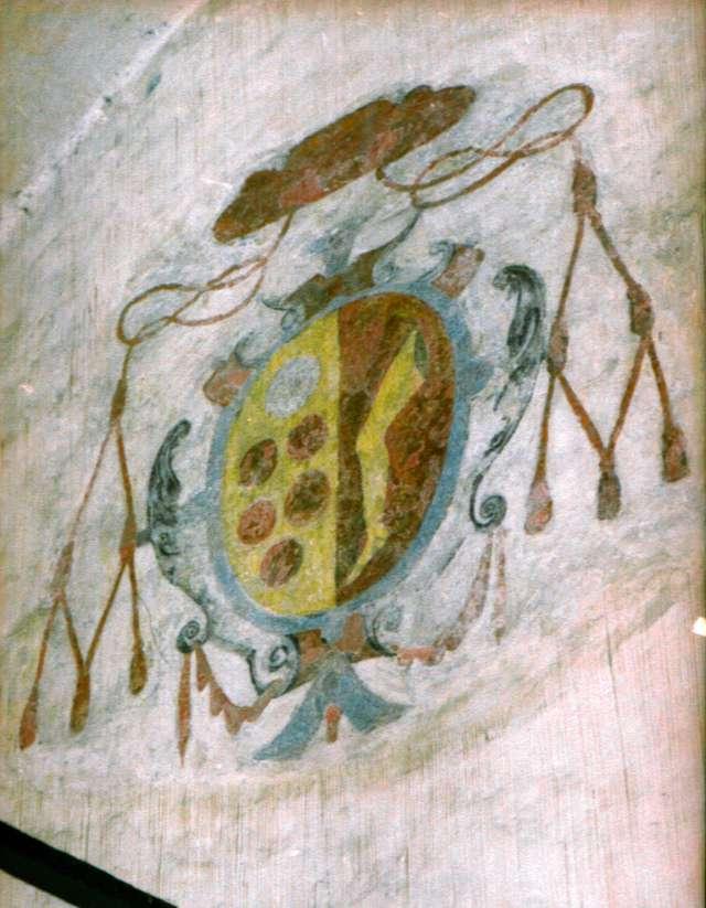 Herb Hozjusza umieszczony na ścianie refektarza zamku w Lidzbarku Warmińskim. - full image