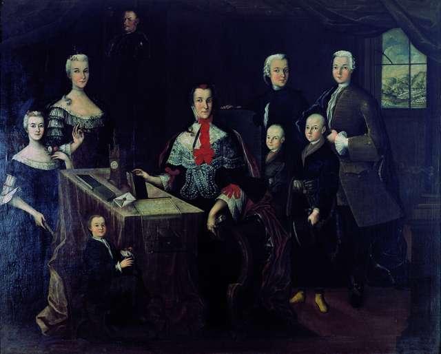 Portret rodziny Krasickich na Dubiecku.  - full image