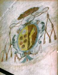 Herb Hozjusza umieszczony na ścianie refektarza zamku w Lidzbarku Warmińskim.