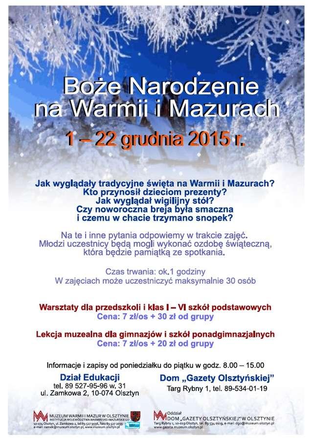 Warsztaty bożonarodzeniowe w Domu Gazety Olsztyńskiej - full image