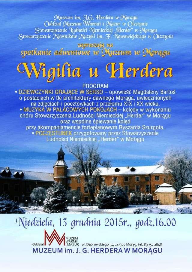 Spotkanie adwentowe związane z 212 rocznicą śmierci J.G. Herdera przypadającą 18 grudnia. - full image