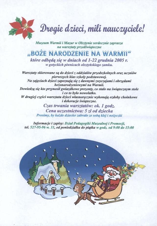 """Warsztaty przedświąteczne """"Boże Narodzenie na Warmii"""" - full image"""